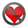 Do not heart illustration - Stock Photo