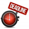 Stock Photo: Deadline watch sign