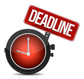 Deadline watch sign — Stock Photo
