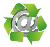 Recycle and att sign — Stockfoto
