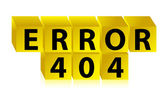 Error 404 illustration design — Stock Photo