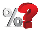 Percentage and question — Stock Photo