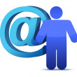 Att mail sign and icon — Stock Photo #14884861