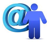 Att e-sign och ikonen — Stockfoto