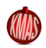 Christmas red ornament — Stock Photo