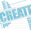 Create text on notepad — Stock Photo #15079065