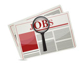 Searching for jobs in the news paper — Stock Photo
