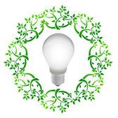 Lightbulb leaves — Stock Photo