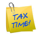 Tax time post it — Stock Photo
