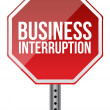Foto Stock: Business interruption sign