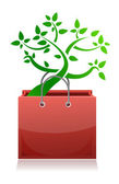 Shopping bag and tree — Stock Photo