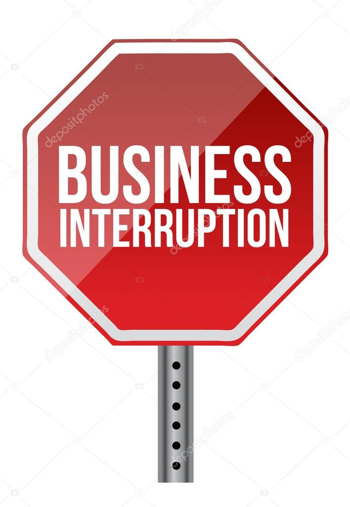 Business interruption sign illustration over a white background  Stock Photo #15341847