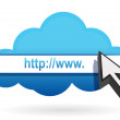 Stock Photo: Http cloud