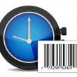 Watch and barcode — Stock Photo