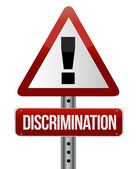 Discrimination warning sign — Stock Photo
