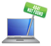 Laptop with a 404 error message — Stock Photo