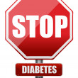 Stop diabetes — Stock Photo