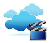 Media storage cloud computing — Stock Photo