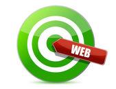 Target the web — Stock Photo