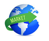 Market globally — Stock Photo