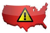 Advertencia firme y nos mapa — Foto de Stock