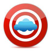 Target cloud computing concept — Stock Photo