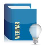 Webinar book — Stock Photo