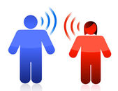 Couple communication concept — Stock Photo