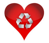 Love recycle concept — Stock fotografie