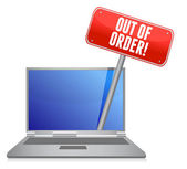 Out of order laptop service — Stock Photo