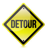 Detour yellow sign — Stock Photo