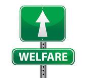 благосостояние зеленый знак — Стоковое фото