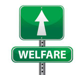 Welfare green sign — Foto Stock