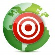Globe target - Stock Photo