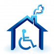 Stock Photo: Handicap house