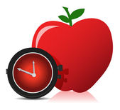 Apple and watch — Stock Photo