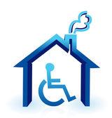 Handicap house — Stock Photo