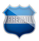 Firewall shield — Stock Photo