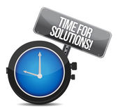 Time for solutions concept — Stock Photo