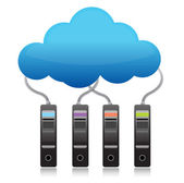 Server backup cloud computing concept — Stock Photo