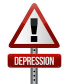 Depression warning sign — Stock Photo