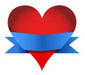 Hjärta med banner — Stockfoto