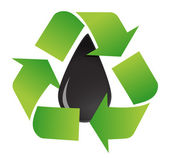 Recycle oil symbol — Stock Photo