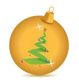 Gold weihnachtsbaum ornament — Stockfoto