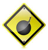 Bomb ahead zeichen — Stockfoto