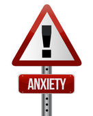 Anxiety sign — Stock Photo