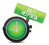 Help desk 24 - 7 — Stock Photo