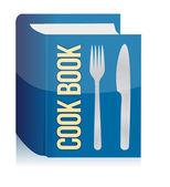 Książki kucharskiej i przybory kuchenne — Zdjęcie stockowe