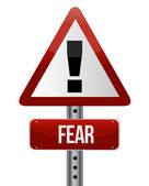 Sign with a fear concept — Stock Photo