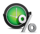 Watch percentage — Stock Photo